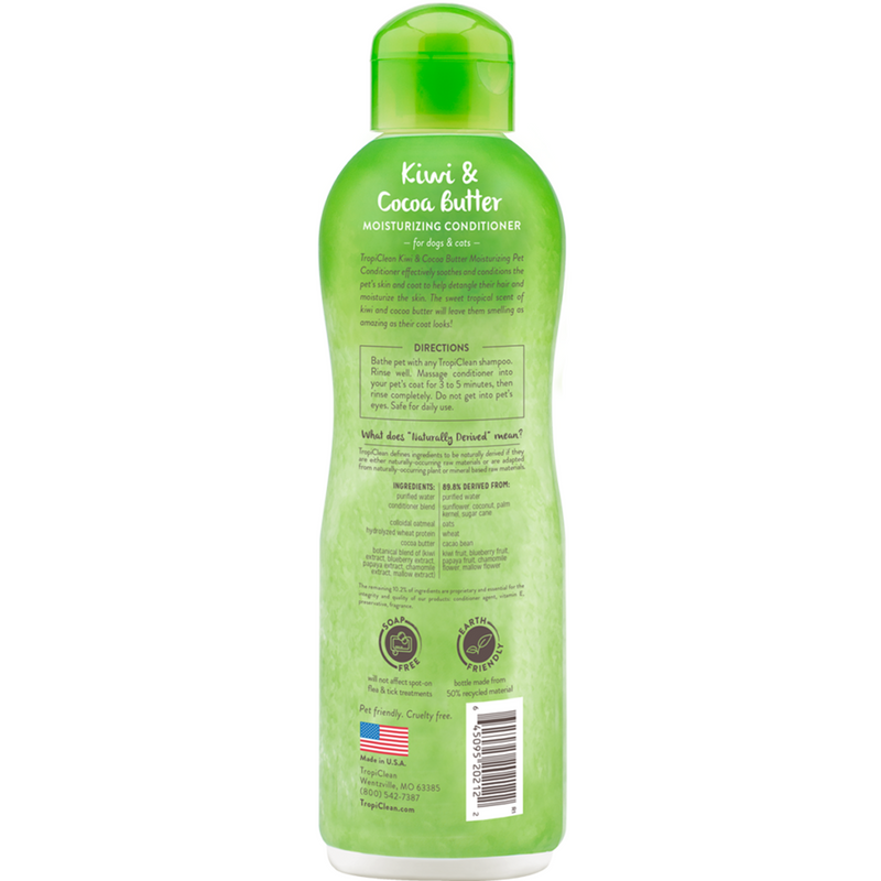 TROPICLEAN KIWI & COCOA BUTTER PET CONDITIONER 592 ml