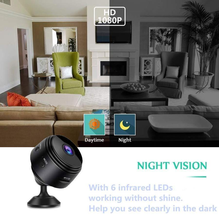 1080P WiFi Mini Camera Motion Detection+Night Vision Remote Monitoring