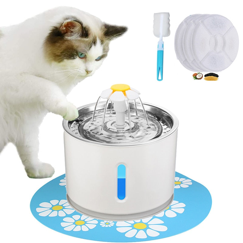 LED Pet Water Dispenser Drinking Fountain