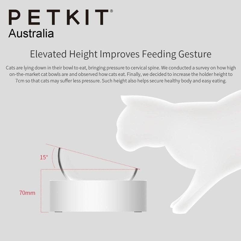 Petkit Fresh Nano Stainless Steel 15° Adjustable Feeding Bowl (Double) - OzCat Pet Supplies