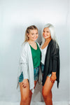 Cardigan, lightweight (black or gray)