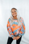 Tie-dye, blueberry pumpkin, Sweatshirt