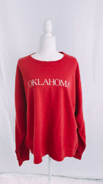 Comfort Colors Oklahoma Sweatshirt crimson red