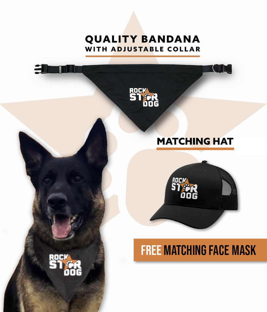 Rock Star Dog Bundle | Bandana Collar & Hat