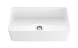 "30"" Fireclay Farmhouse Sink - White Gloss"