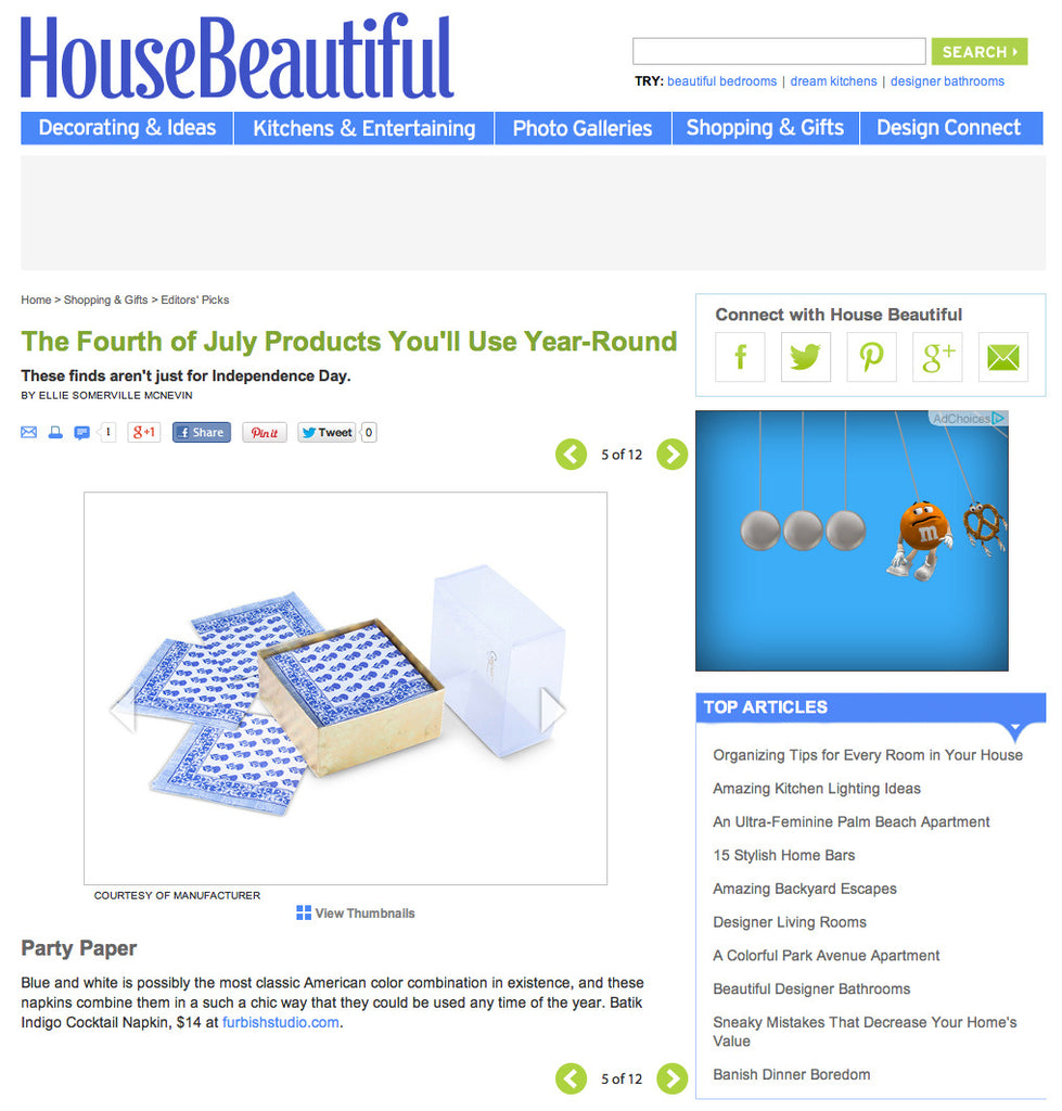 House Beautiful July 2014 image 1
