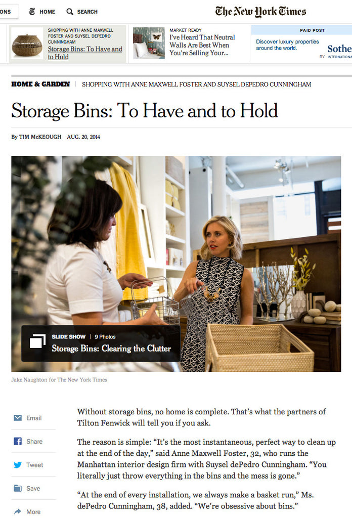 Furbish in the New York Times August 2014 image 1