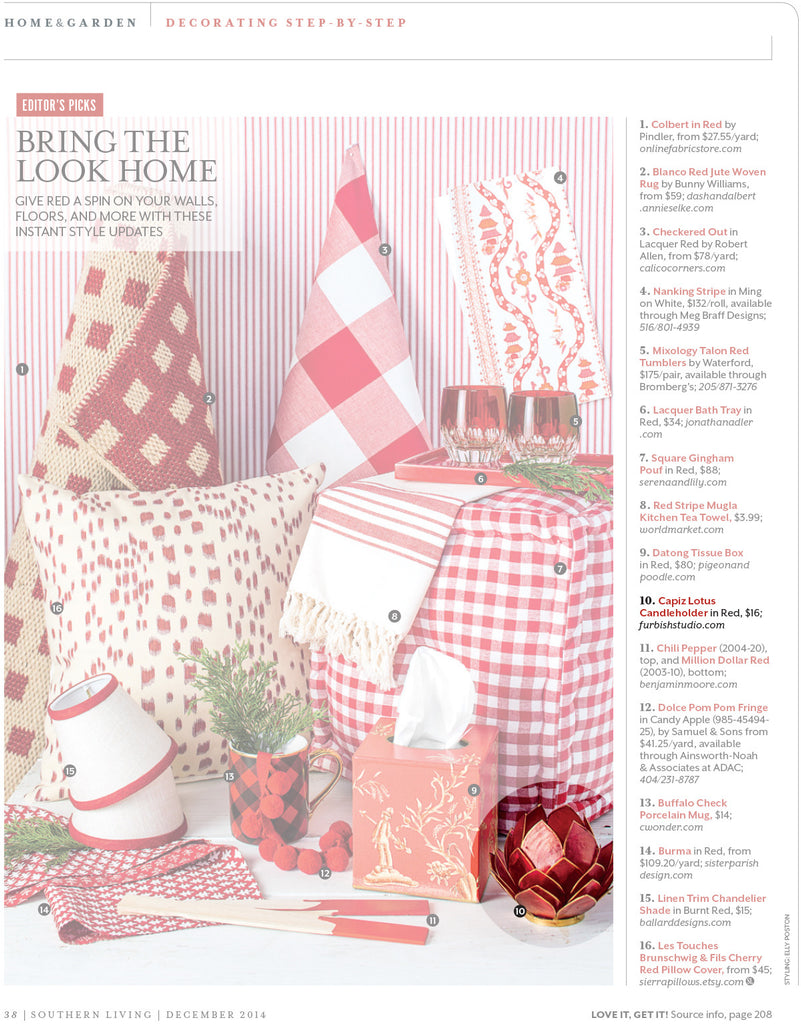 Furbish Studio in Southern Living Christmas 2015 image 2