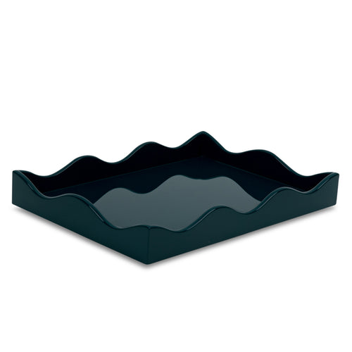Furbish Studio - Small Belles Rives Wavy Edged Tray in Marine Blue