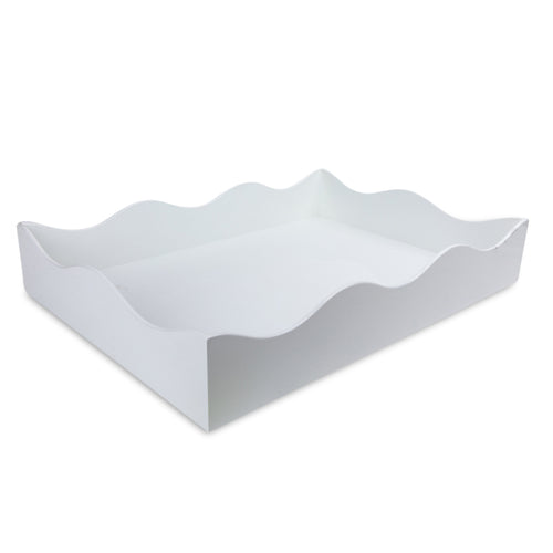 Large Belles Rives Tray - White