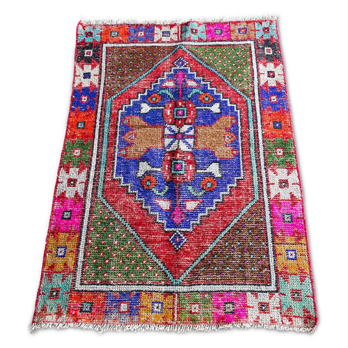 Furbish Studio - Bellah Vintage Throw Rug angled full view