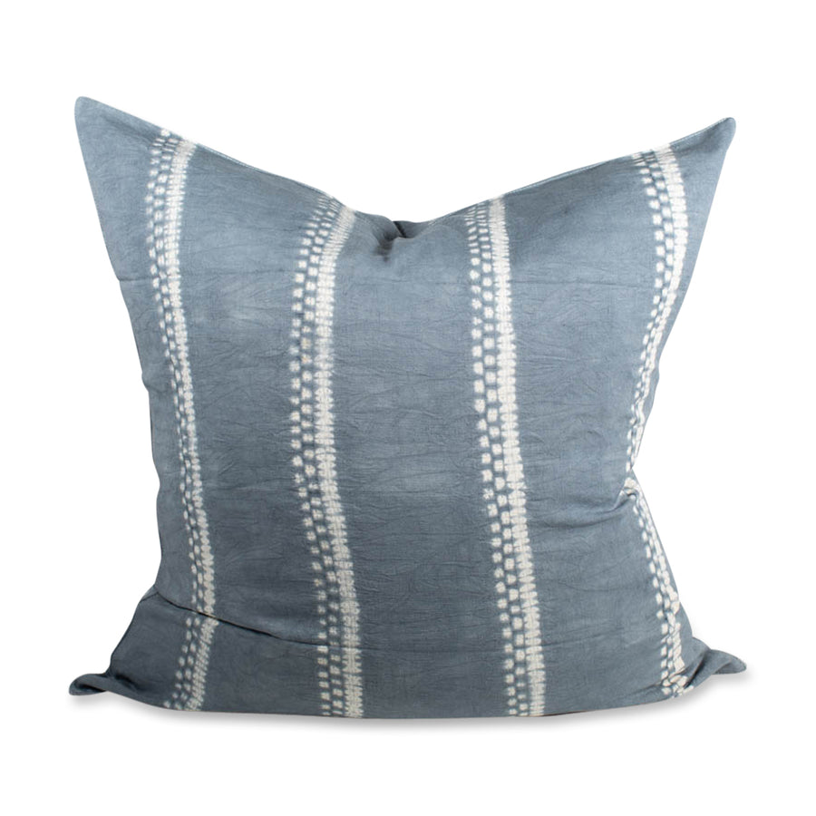 Furbish - Sabina Shibori Euro Shame - Grey Tie Dye - A go with everything grey color in our best-selling Sabina shibori tie dye technique pillow covers. A laid-back boho vibe for your sofa or bed. Measures 26