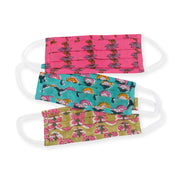 Furbish Studio - Little and Lovely Blockprint Kids Facemasks Set of 3 different patterns and colors