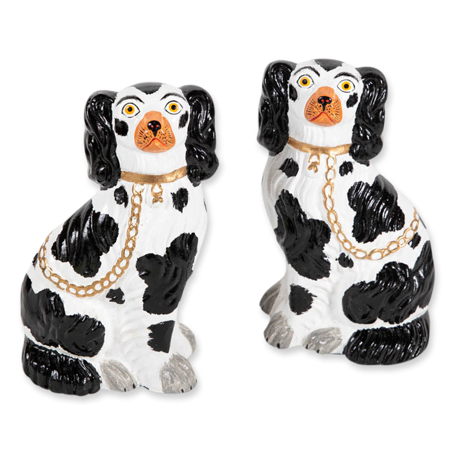 Staffordshire Dog Pair - Black