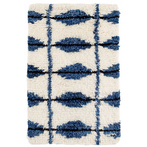 Furbish - ChiChi Ivory and Indigo Plushy Wool Rug