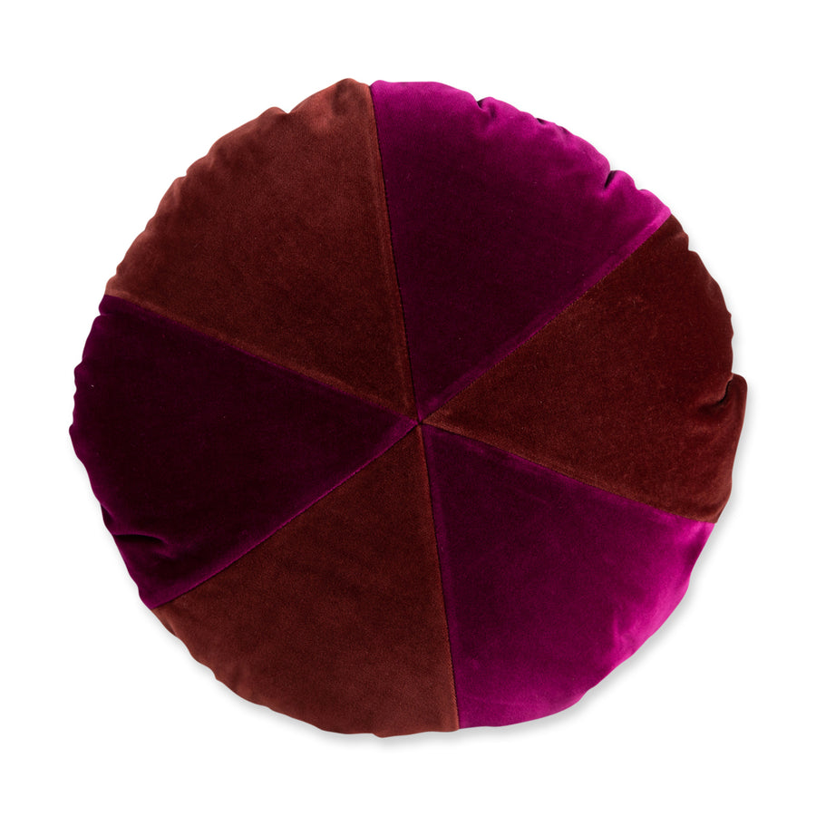 FURBISH STUDIO - Galena Velvet Pillow - Mulberry + Merlot front view