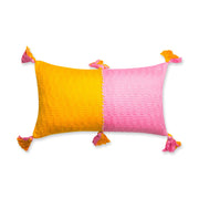 Furbish Studio - Antigua Colorblocked Lumbar in Pink and Orange