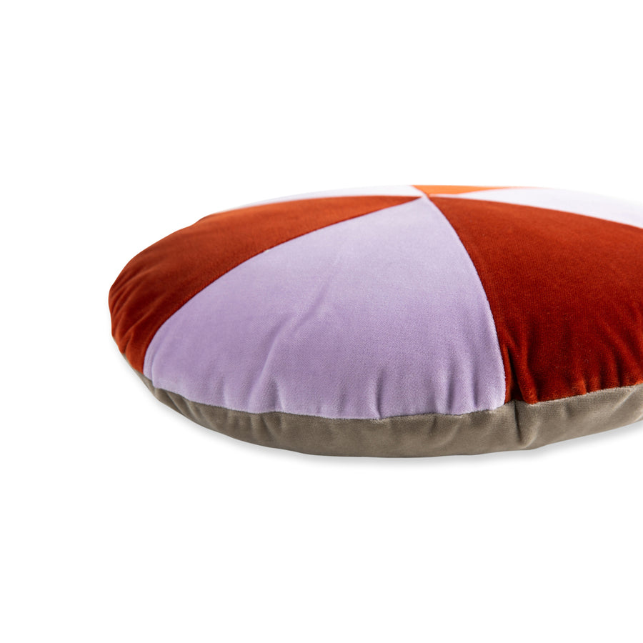 Furbish Studio - Galena Velvet Pillow - Lilac + Terra Cotta SIDE SEAM VIEW