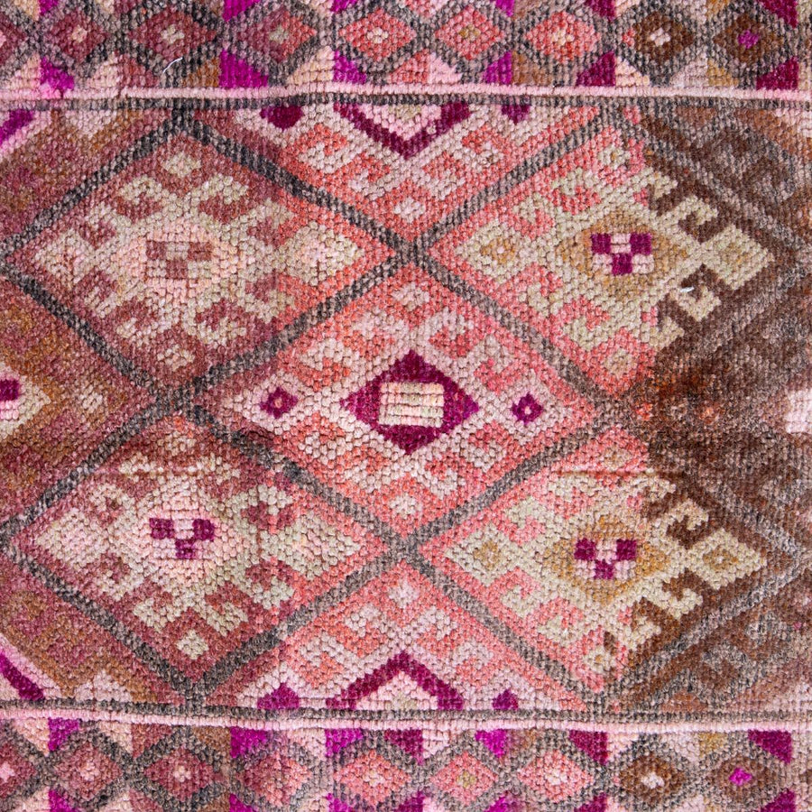 FURBISH STUDIO Montreux Vintage Runner Rug closeup of design weave and colors