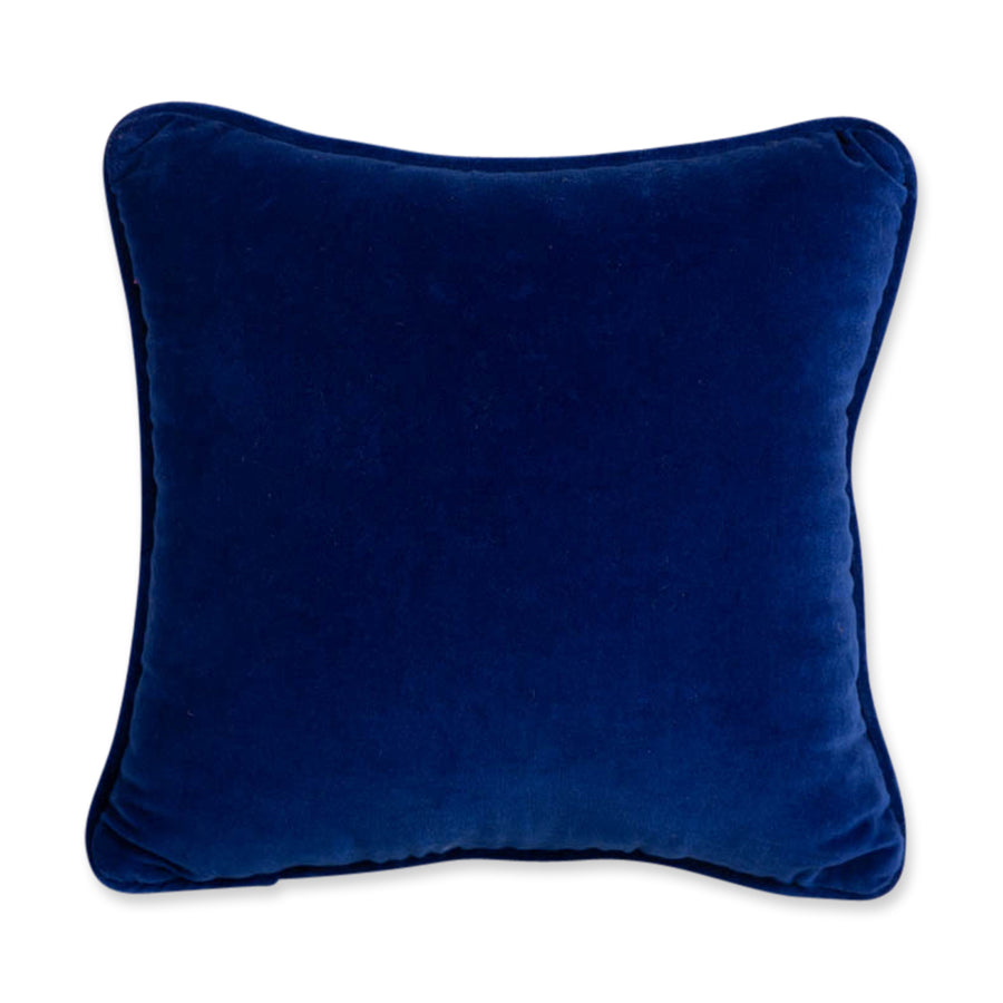 Furbish Studio - That Bitch Needlepoint Pillow royal blue velvet back