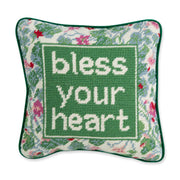 Furbish Studio - Bless Your Heart Needlepoint Pillow