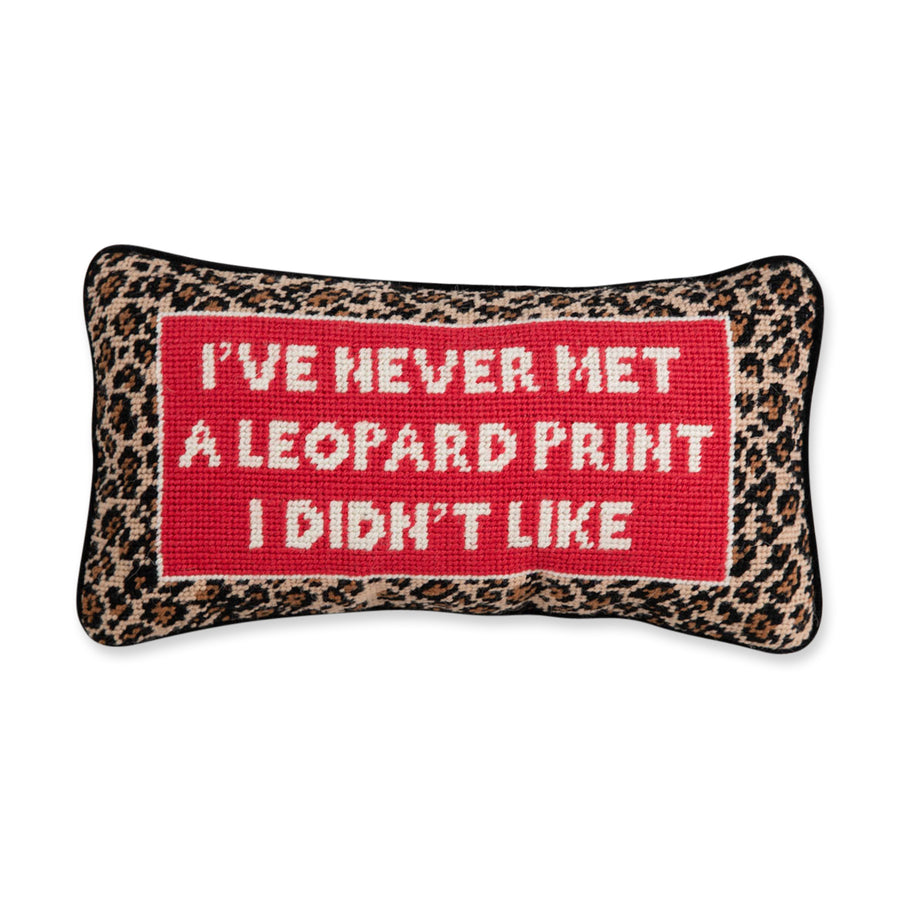 Furbish Studio - Leopard Print Needlepoint Pillow