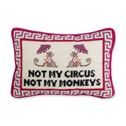 Furbish Studio - Not My Circus Needlepoint Pillow