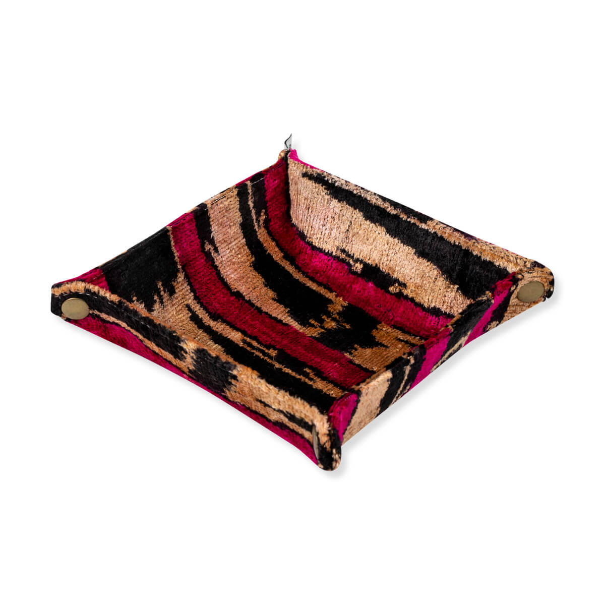 Furbish Studio - Velvet Ikat Tray in Pink and Gold