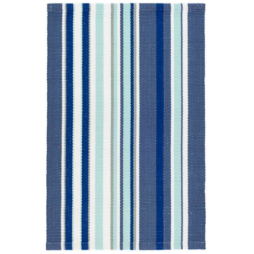 Furbish - Skyler Multi-Blue Stripes Indoor/Outdoor Rug