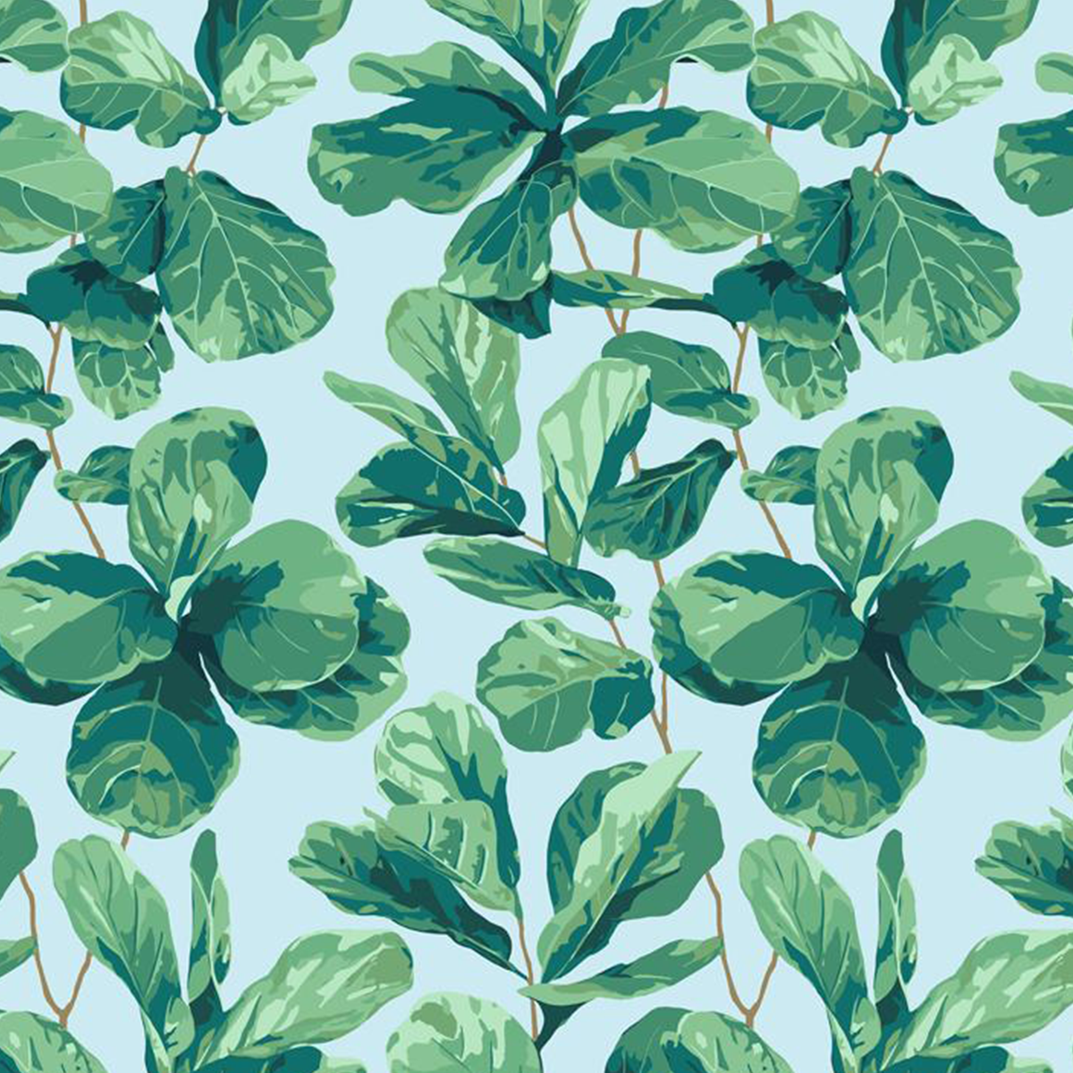 Fiddle Fig Removable Wallpaper - Sky