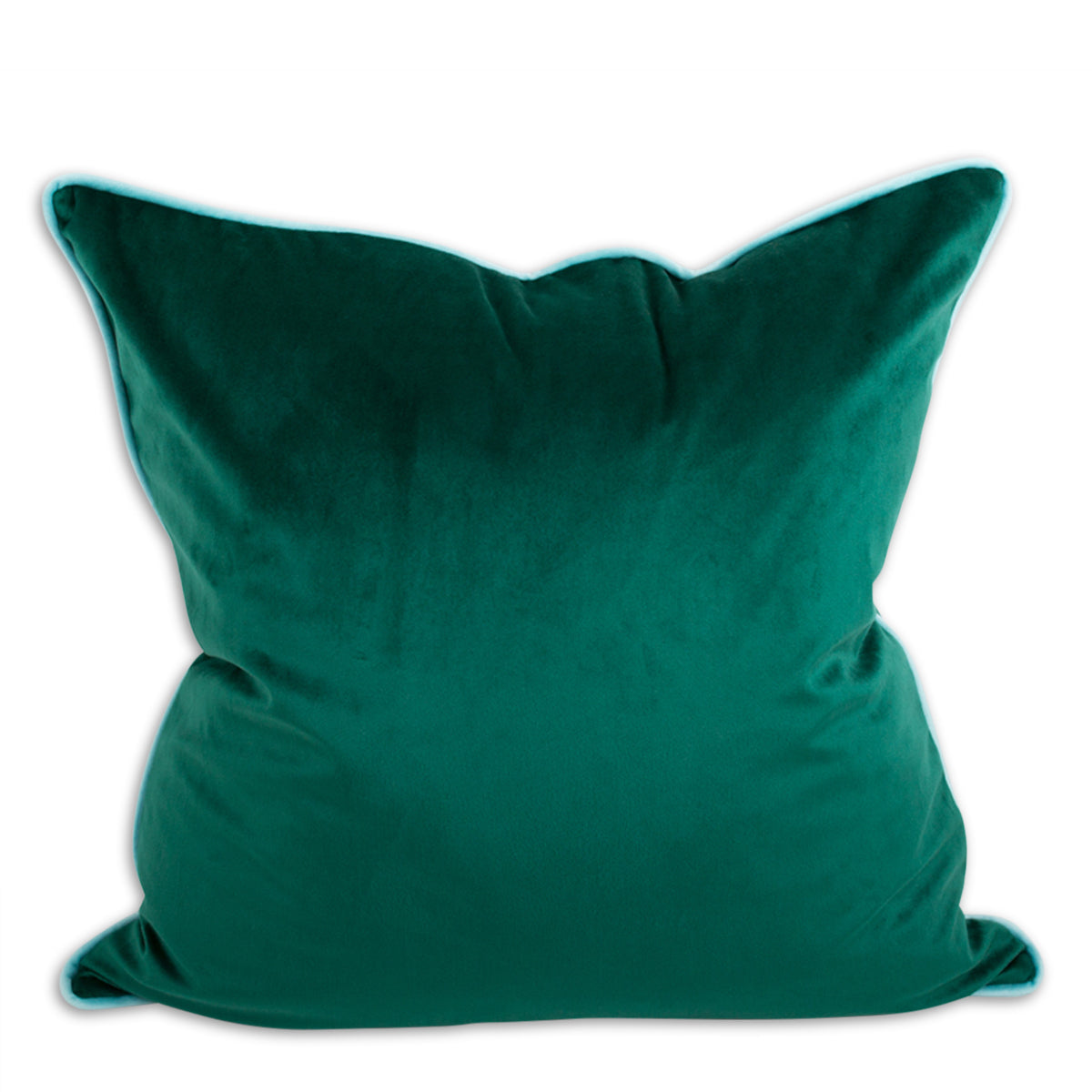 Yves Velvet Pillow - Emerald + Aqua