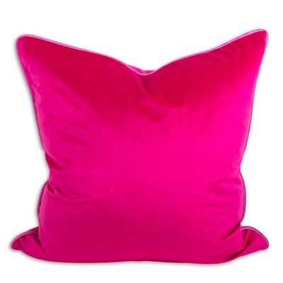 Yves Velvet Pillow - Fuchsia + Bubblegum