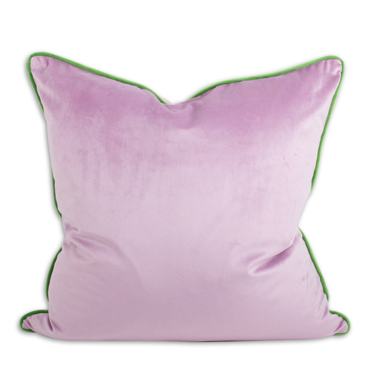 Yves Velvet Pillow - Lilac + Grass