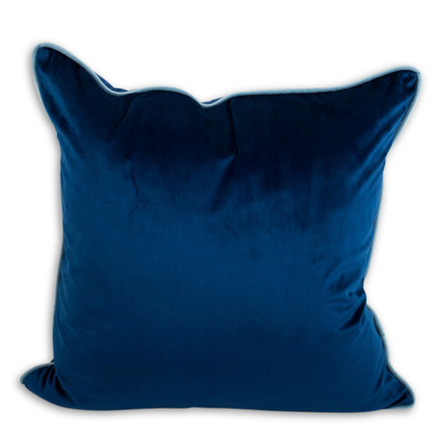 Yves Velvet Pillow - Cobalt + Light Blue