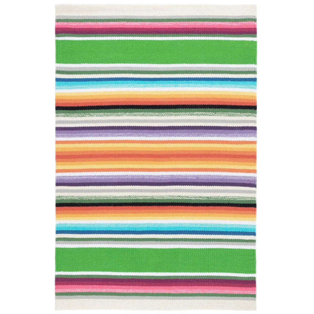 Furbish - Serape Multicolored Stripes Woven Cotton Rug