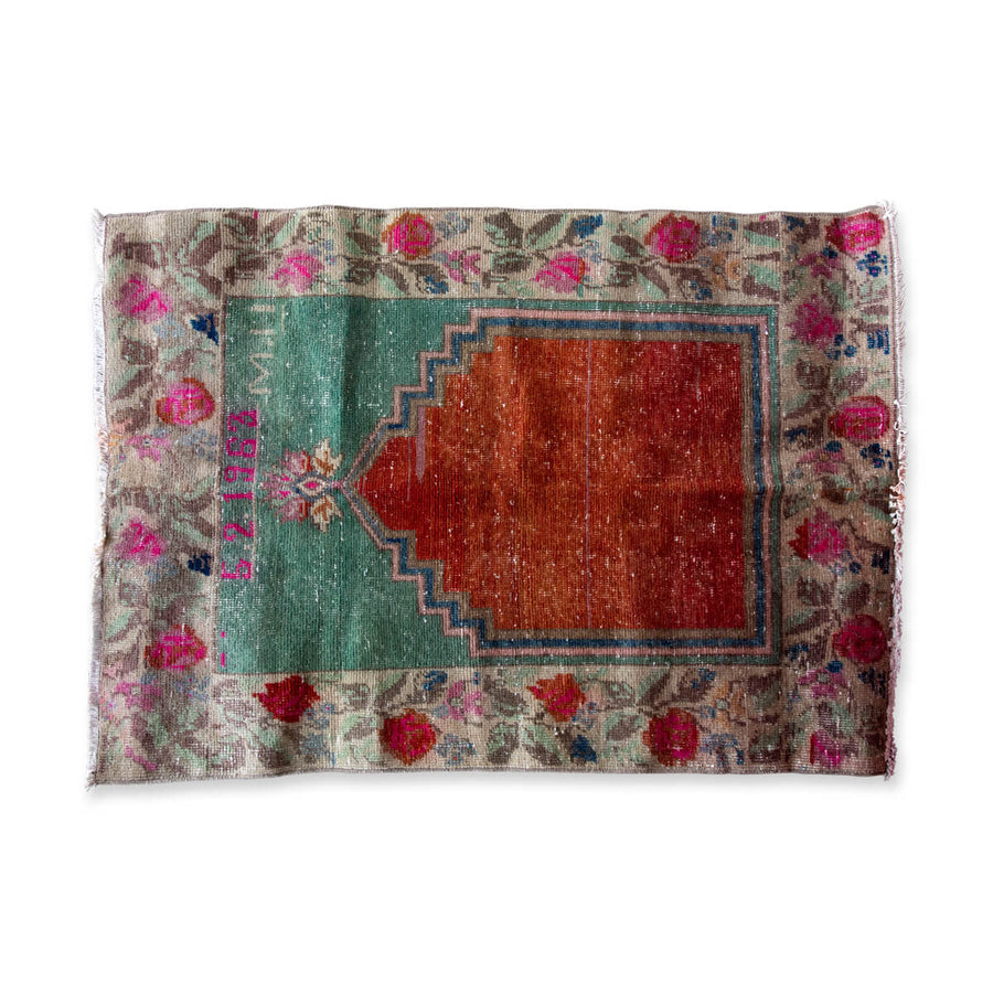 Furbish Studio - Autumn Vintage Throw Rug side full view