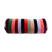 Furbish Studio - Baies Stripe Vevlet Bolster - Rainbow main front view