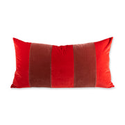 Furbish Studio - Durant Velvet Pillow - Cherry + Salmon front view