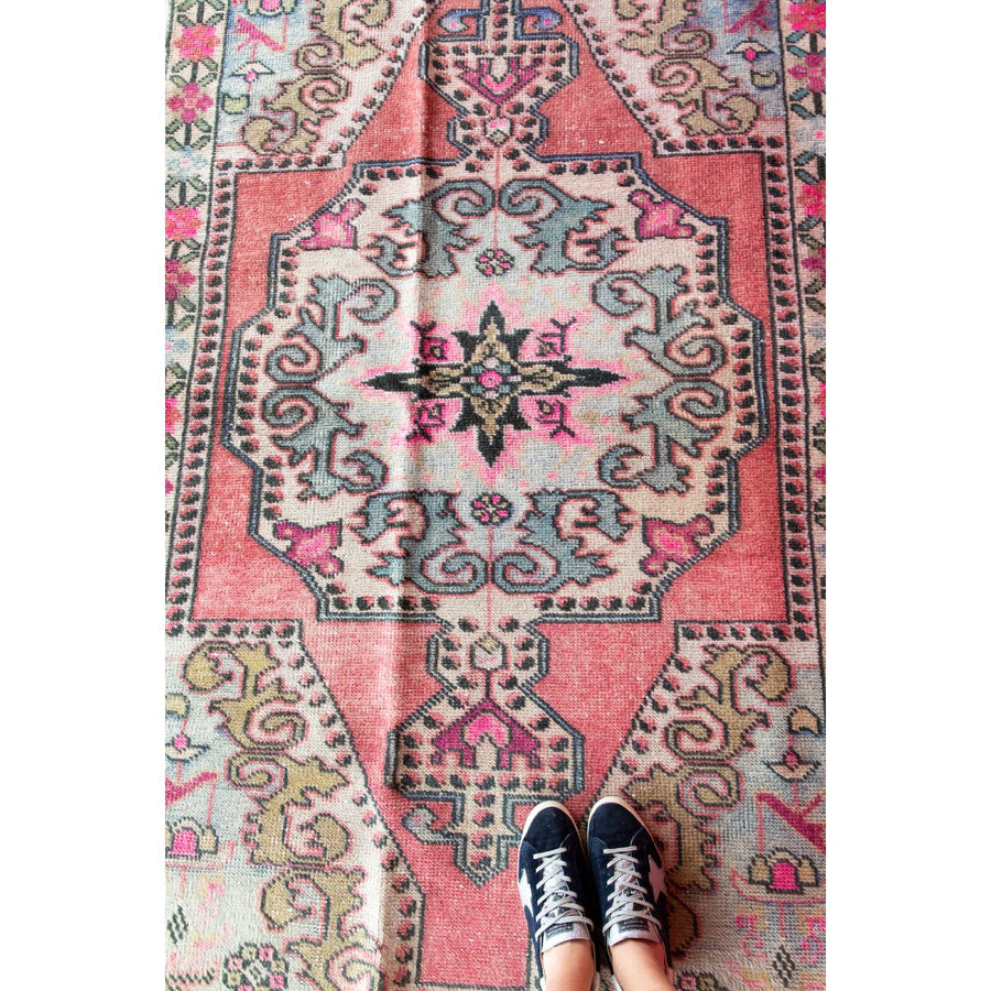 Furbish Studio - Evelyn Vintage Rug with tennis shoes