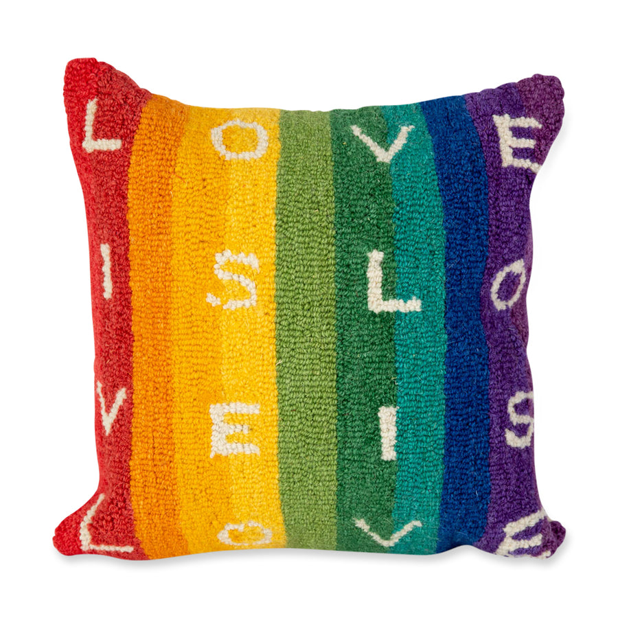 Furbish Studio - Love is Love Pillow rainbow front