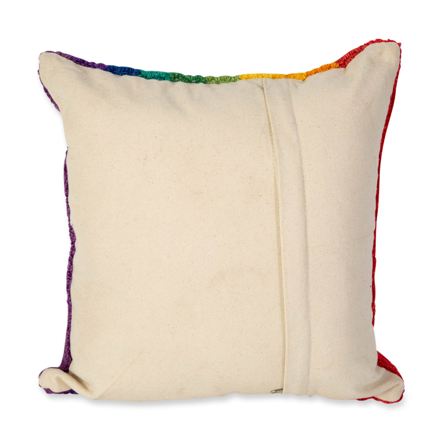 Furbish Studio - Love is Love Pillow rainbow zippered back