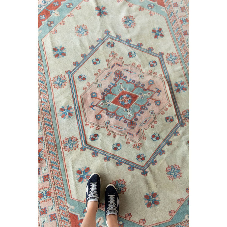 Furbish Studio - Piper Vintage Rug with tennis shoes