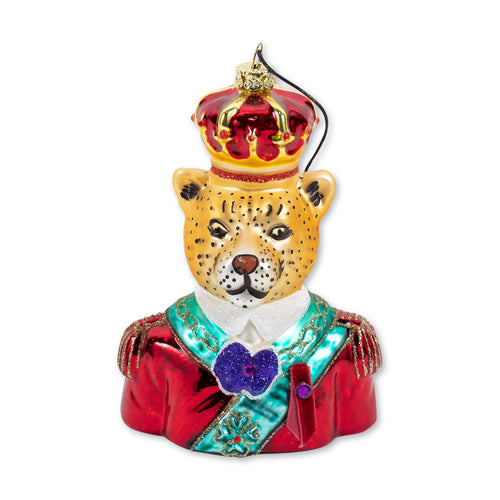 Furbish Studio - Regal Leopard Christmas Ornament