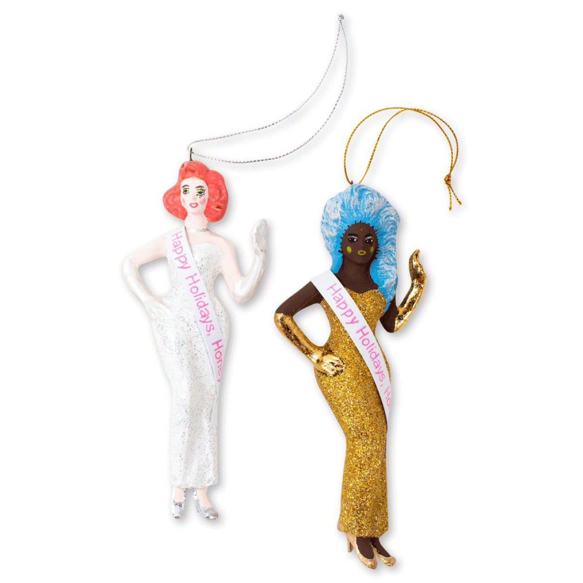 Christmas Queens Ornaments S/2