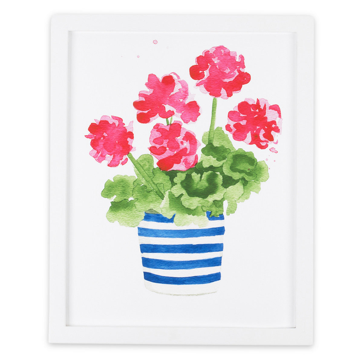 Geranium Striped Pot Print