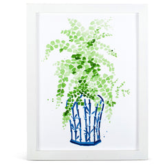 Ginger Jar & Maidenhair Fern Print
