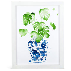 blue and white ginger jar artwork