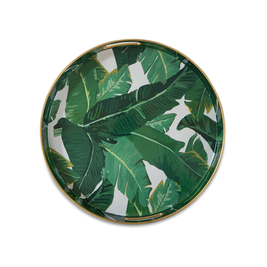 Furbish Studio - Round Palm Leaf Tray top view