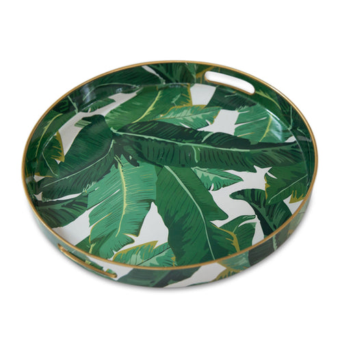 Round Palm Leaf Tray