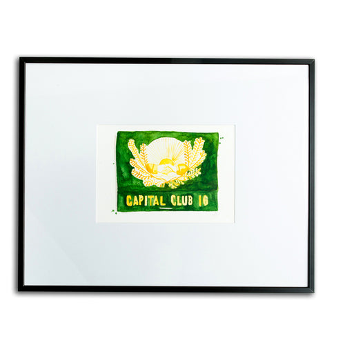 Capital Club 16 Matchbook Watercolor Print